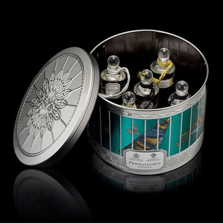 penhaligons tin open with perfume inside
