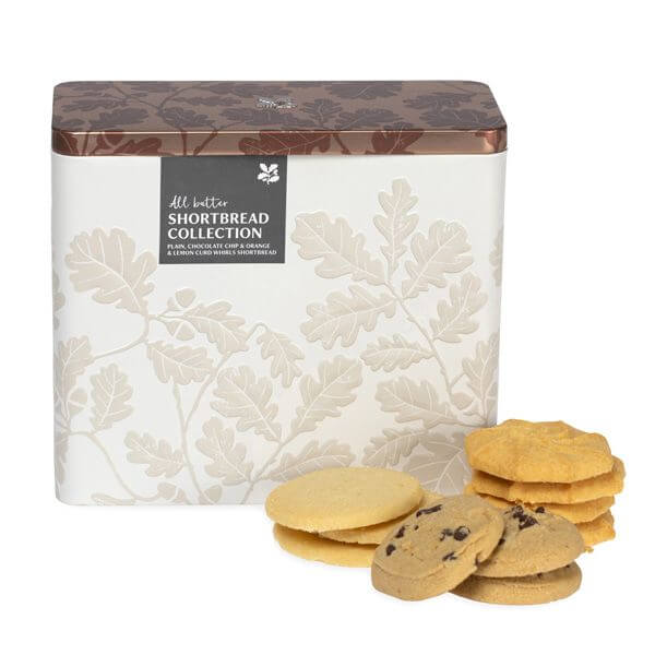 National Trust shortbread collection biscuit tin by tinplate